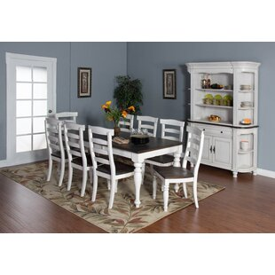 Arlene 7 Piece Extendable Solid Wood Dining Set by August Grove New