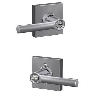 Broadway Keyed Entry Lever with Collins Trim by Schlage