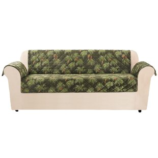 Sure Fit Lodge Pinecone Box Cushion Sofa Slipcover