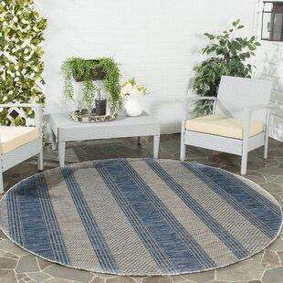 McCall Gray/Navy Indoor/Outdoor Area Rug By Beachcrest Home
