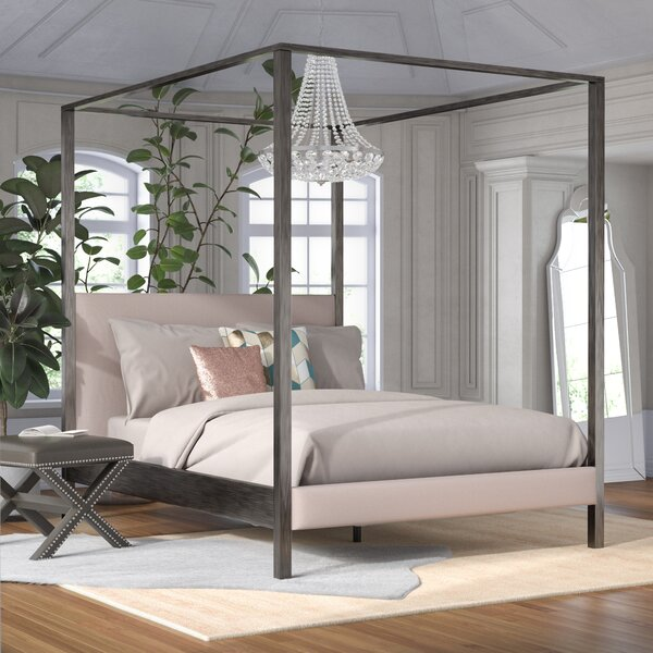 Willa Arlo Interiors Cambree Upholstered Canopy Bed & Reviews | Wayfair