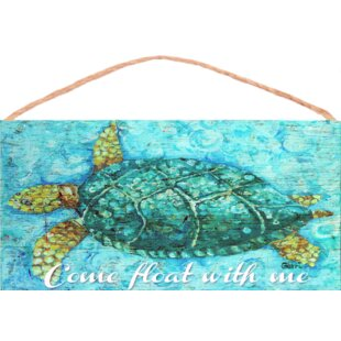 Sea Turtle Wood Sign Wall Decor
