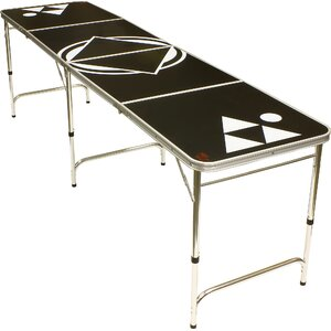 Black Beer Pong Table in Standard Aluminum