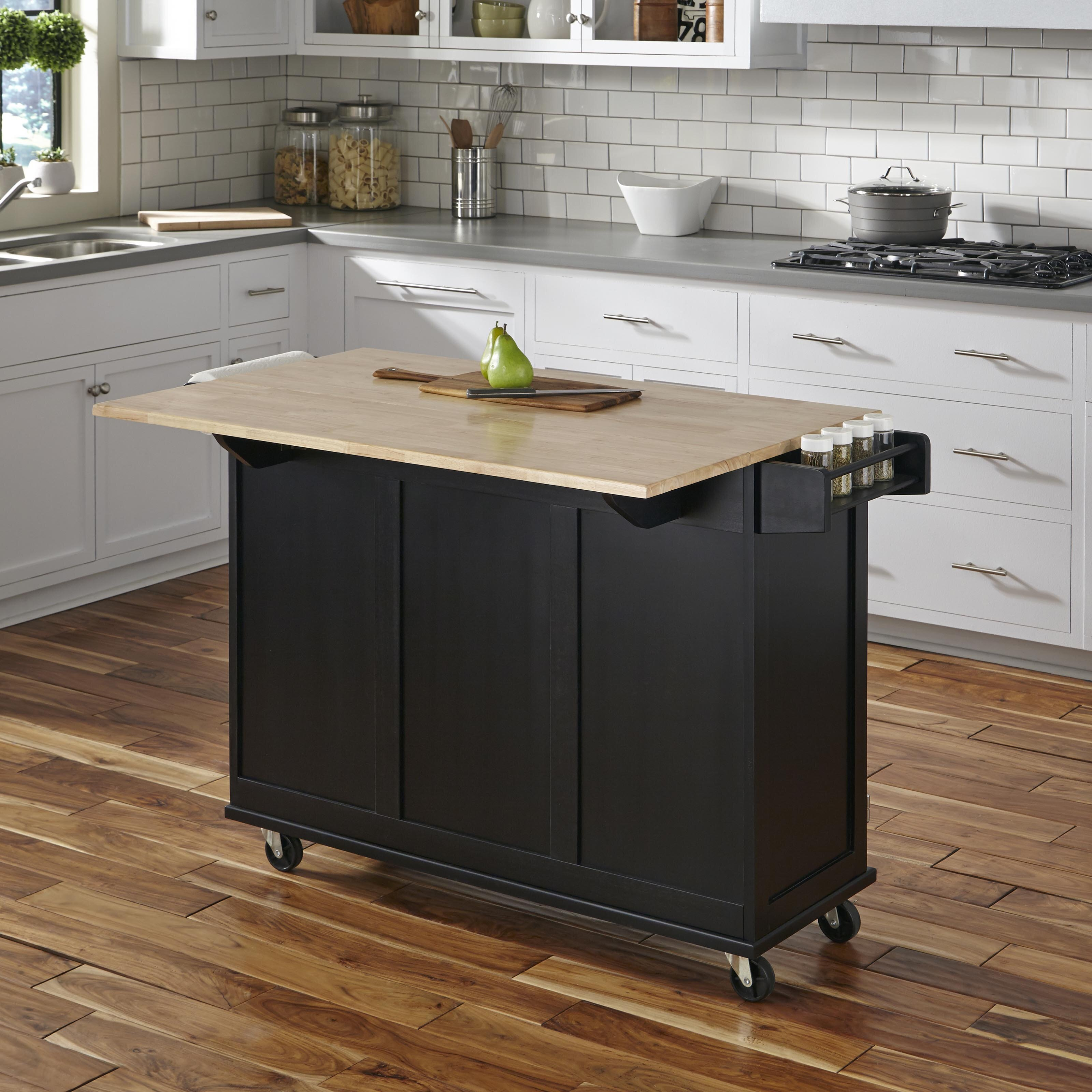 Kuhnhenn Kitchen Cart With Wood Top Joss Main