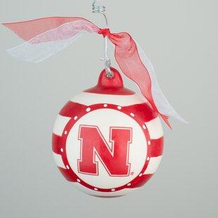 Nebraska Stripe Ball Ornament ByGlory Haus