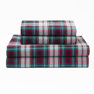 Abbey Xmas Plaid Polyester Sheet Set