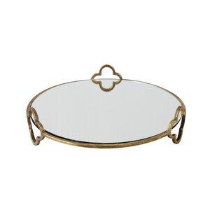 Mahalia Round Decorative Metal Raised Vanity Tray