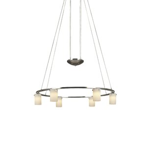 Counter Weights 6-Light Shaded Chandelier by George Kovacs by Minka