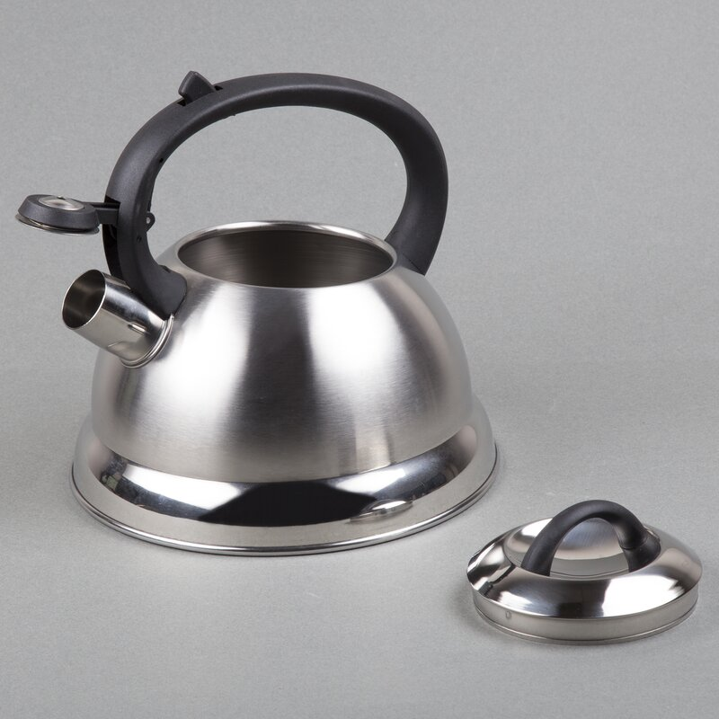 Creative Home Tribute 2 4 Qt Stainless Steel Tea Kettle Wayfair Ca