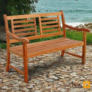 Sun Flair Eucalyptus Wood Bench by indoba®