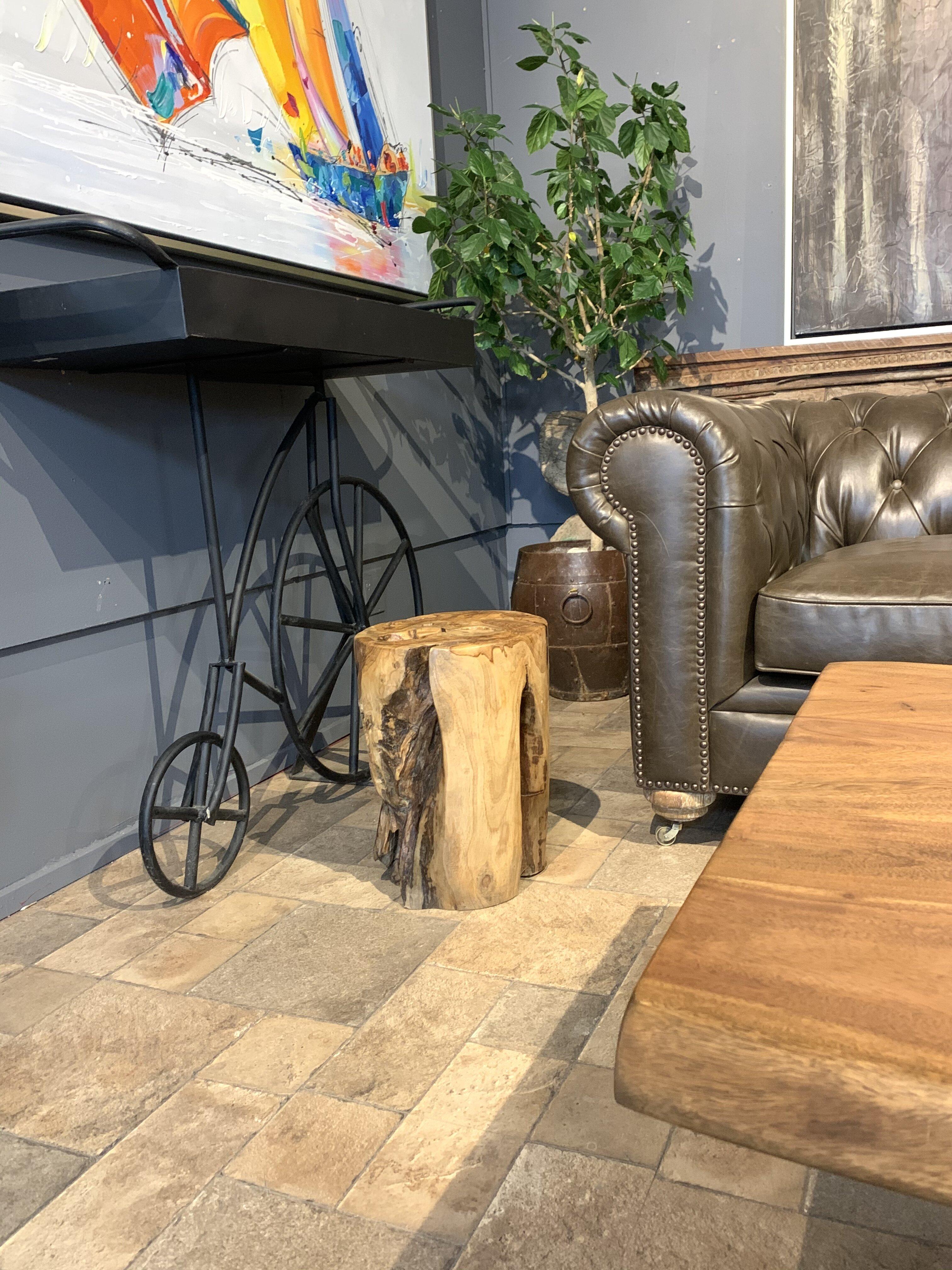 Picture of: Loon Peak Fielder Solid Wood Tree Stump End Table Wayfair Ca