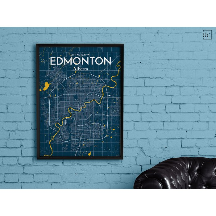 Ourposter edmonton city map graphic art print poster in edmonton city map graphic art print poster in amuse gumiabroncs Images