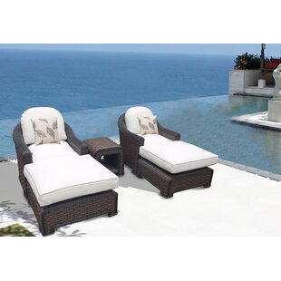 Bayou Breeze Gaia 5 Piece Conversation Set with Cushions