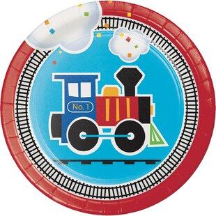 All Aboard Train Appetizer Plate (Set of 24)