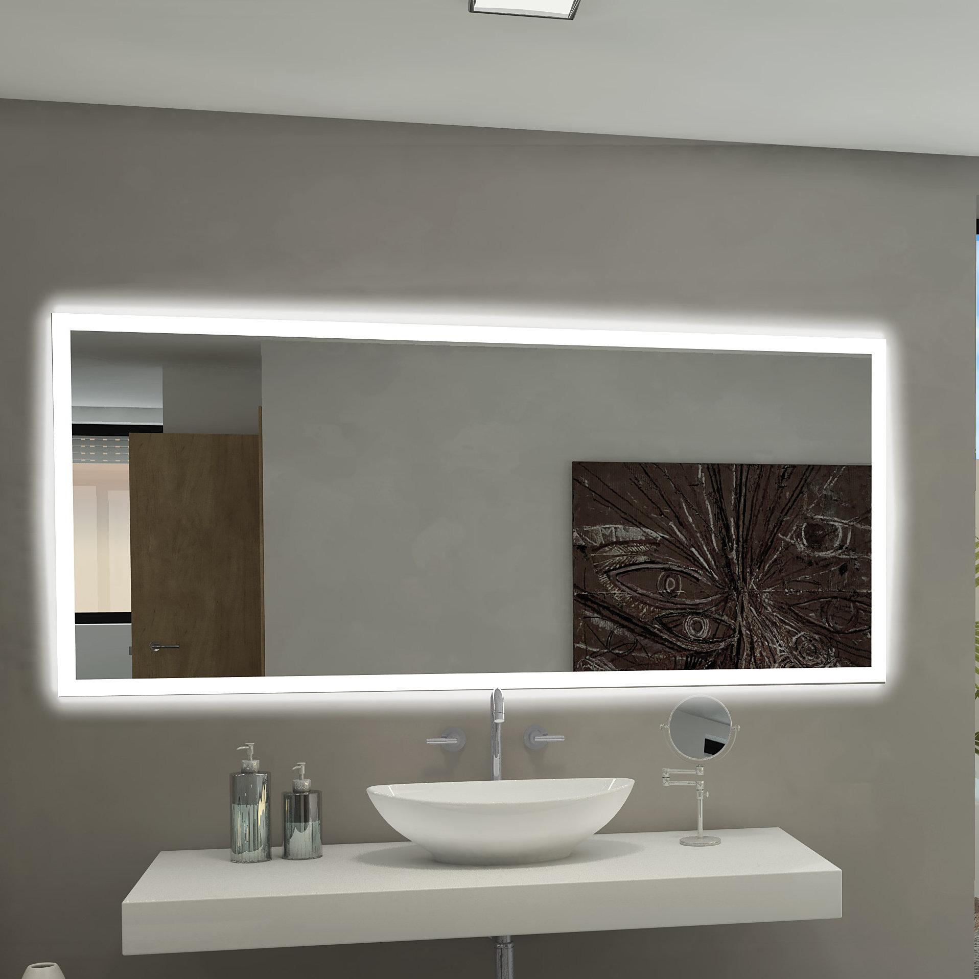 Incroyable Paris Mirror Rectangle Backlit Bathroom / Vanity Wall Mirror U0026 Reviews |  Wayfair