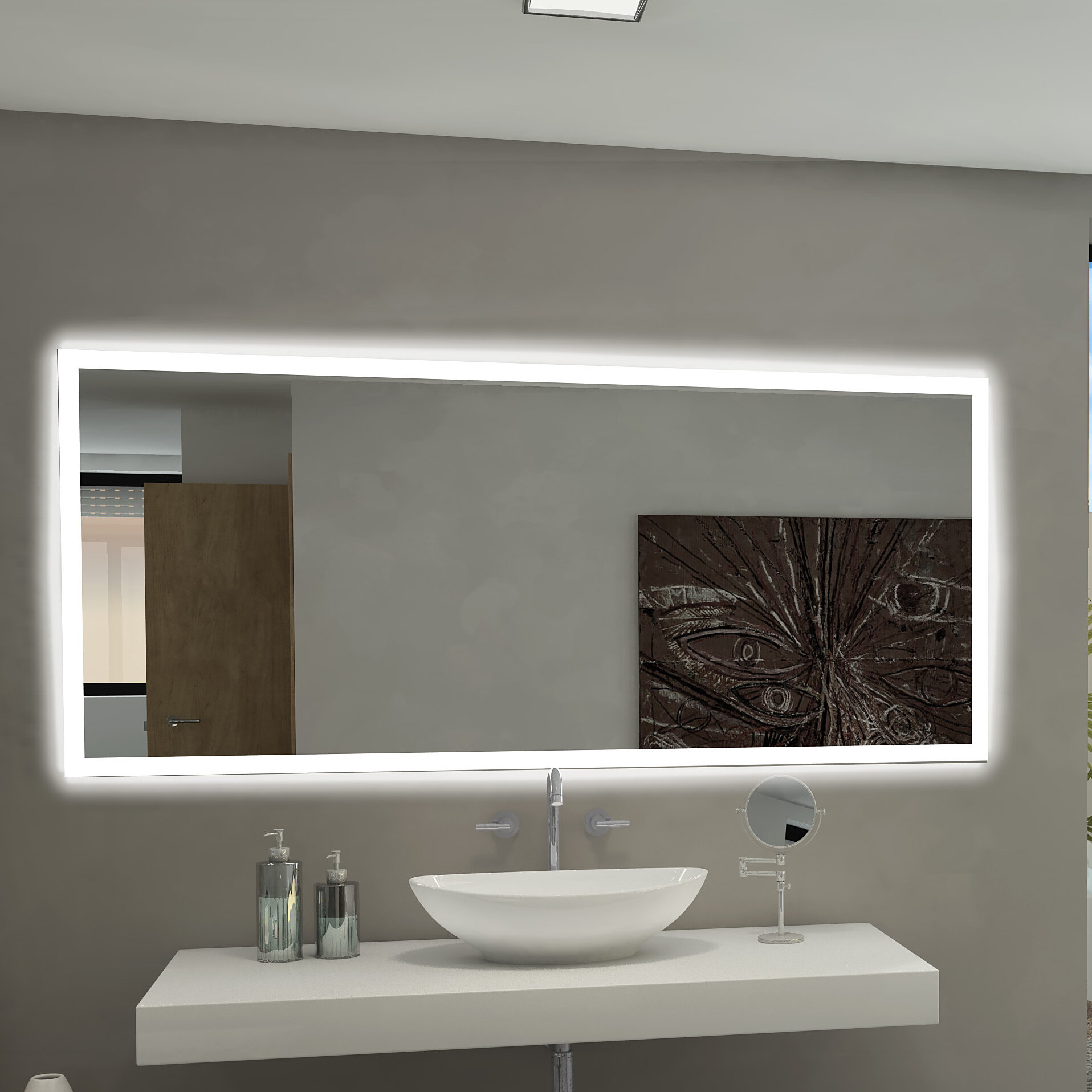 Paris mirror rectangle backlit bathroom vanity wall mirror reviews wayfair