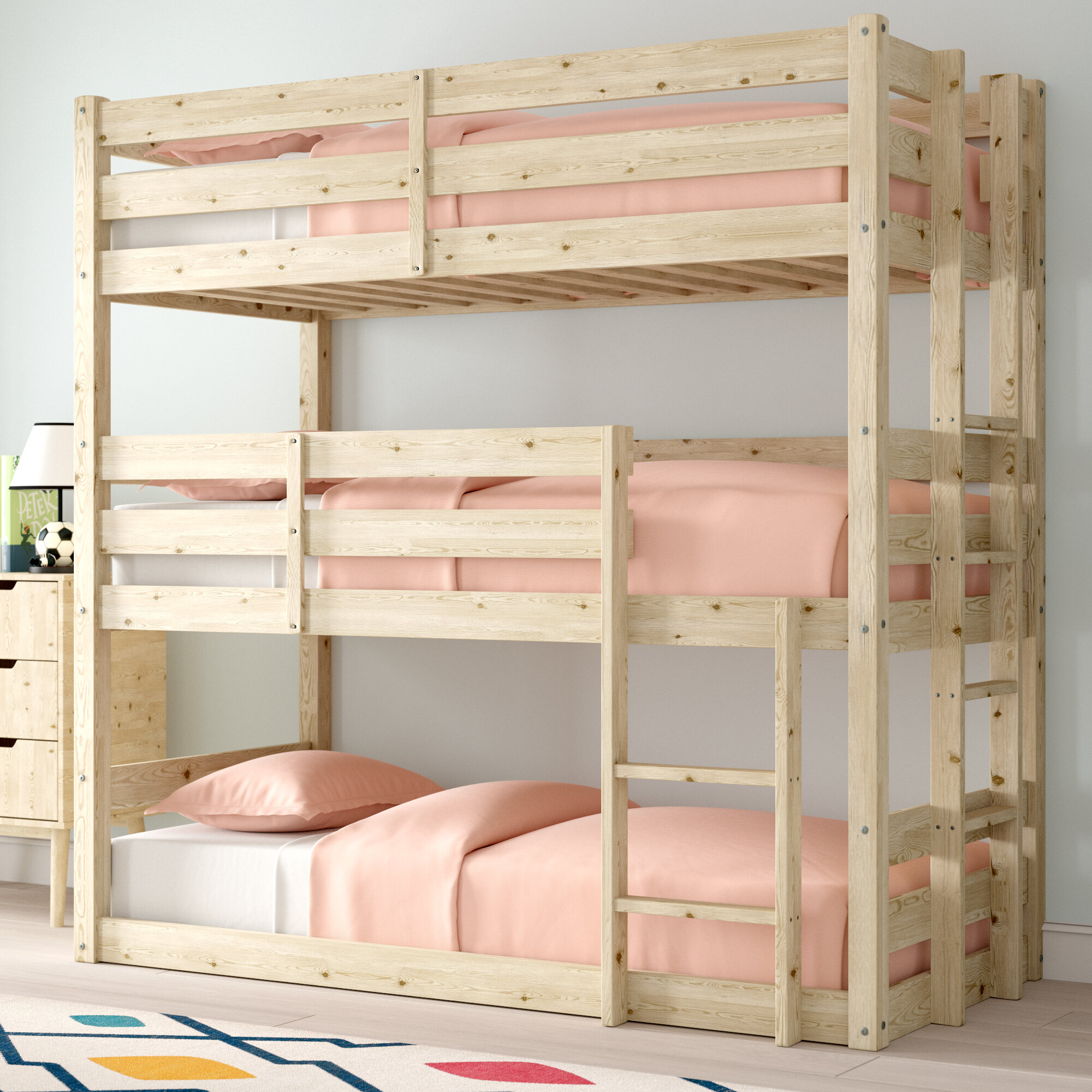 Picture of: Just Kids Derby Triple Sleeper Bunk Bed Reviews