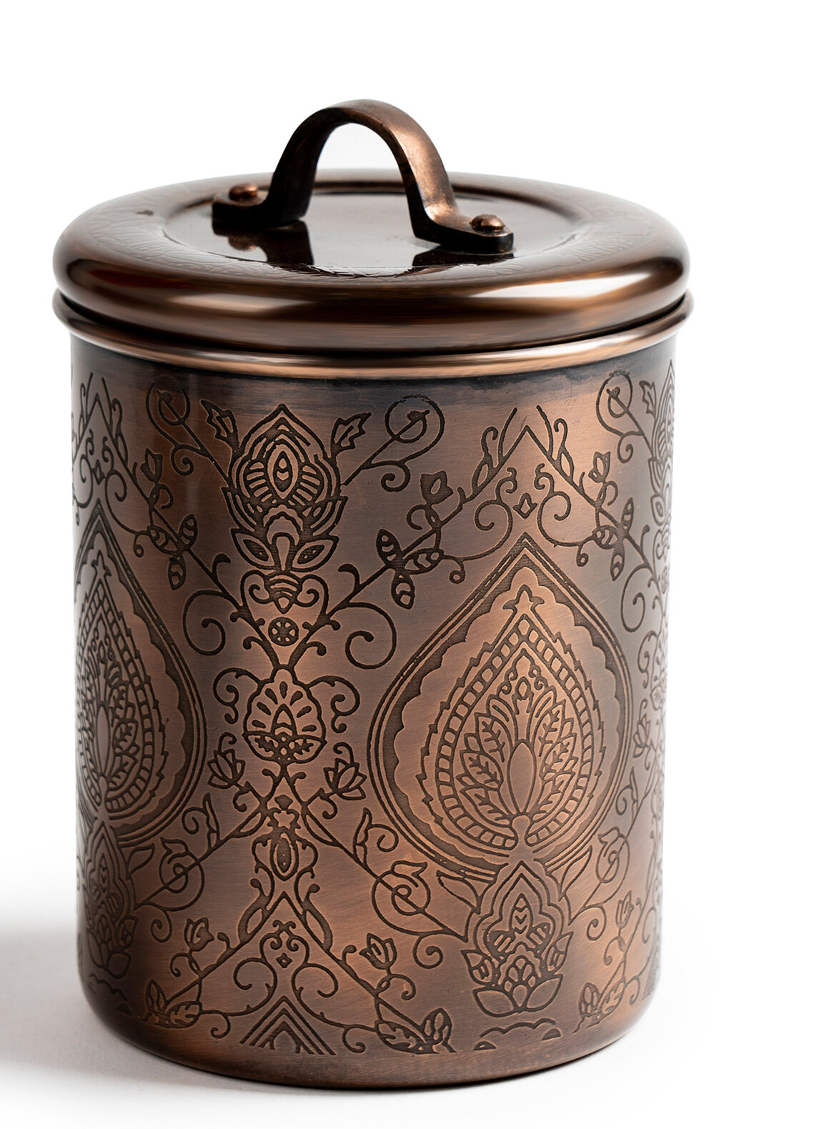 Bungalow Rose Nusteel Etched Antique Copper 1 Qt Stainless Steel
