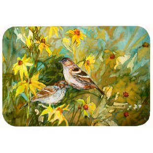 Sparrows In The Field Kitchen/Bath Mat by Caroline's Treasures
