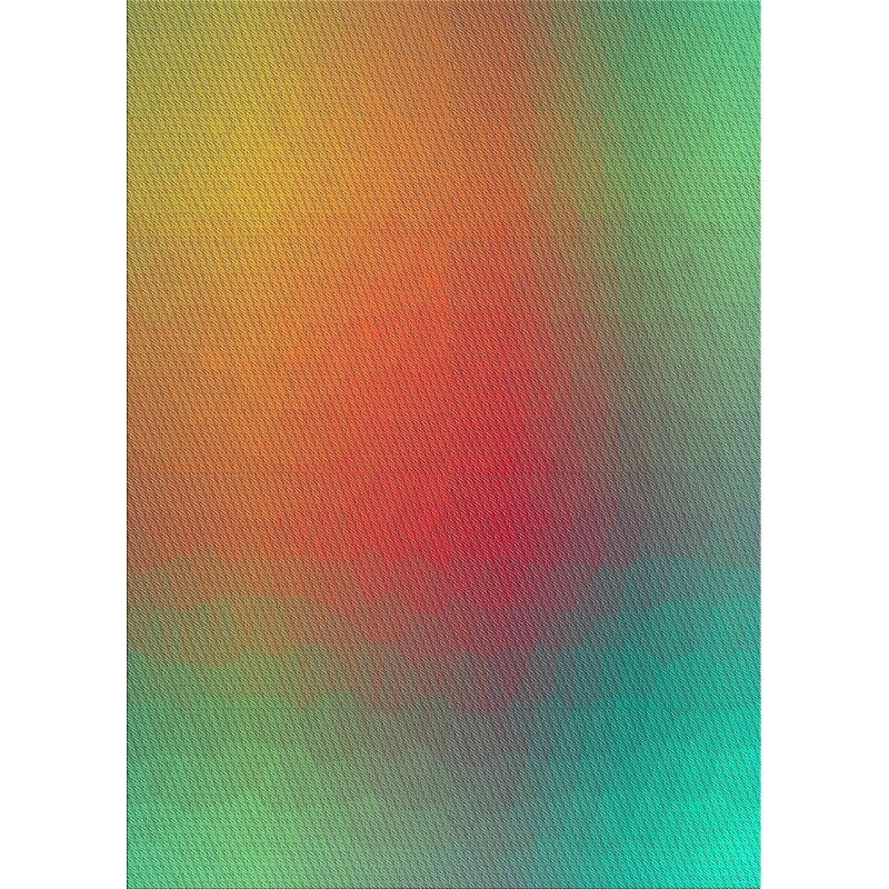 East Urban Home Patterned Aqua Green Red Yellow Area Rug Wayfair