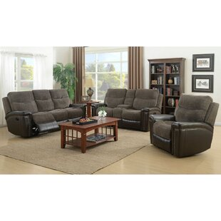 Red Barrel Studio Deniece Reclining 3 Piece Living Room Set