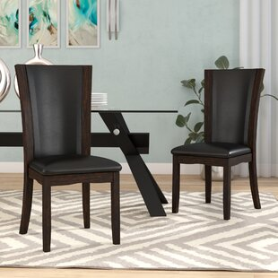 Uptown Upholstered Dining Chair (Set of 2) Latitude Run