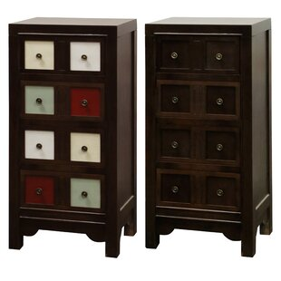 World Menagerie Parnell Reversible Front 4 Drawer Accent Chest