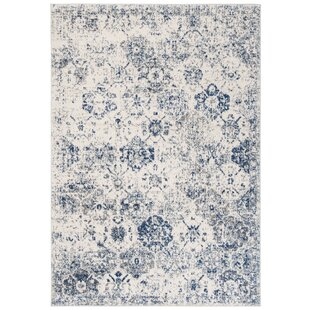 Macy White Royal Blue Area Rug