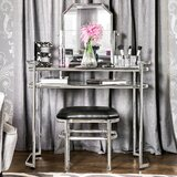 Shorewood Vanity Set with Stool and Mirror byAlcott Hill