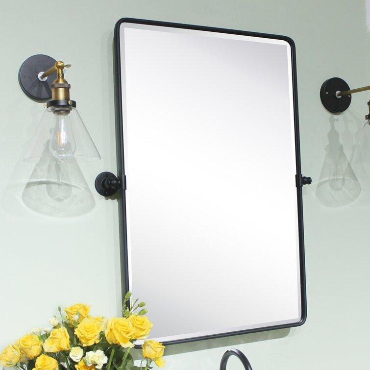 Tehome Farmhouse Modern Contemporary Beveled Bathroom Vanity Mirror Reviews Wayfair