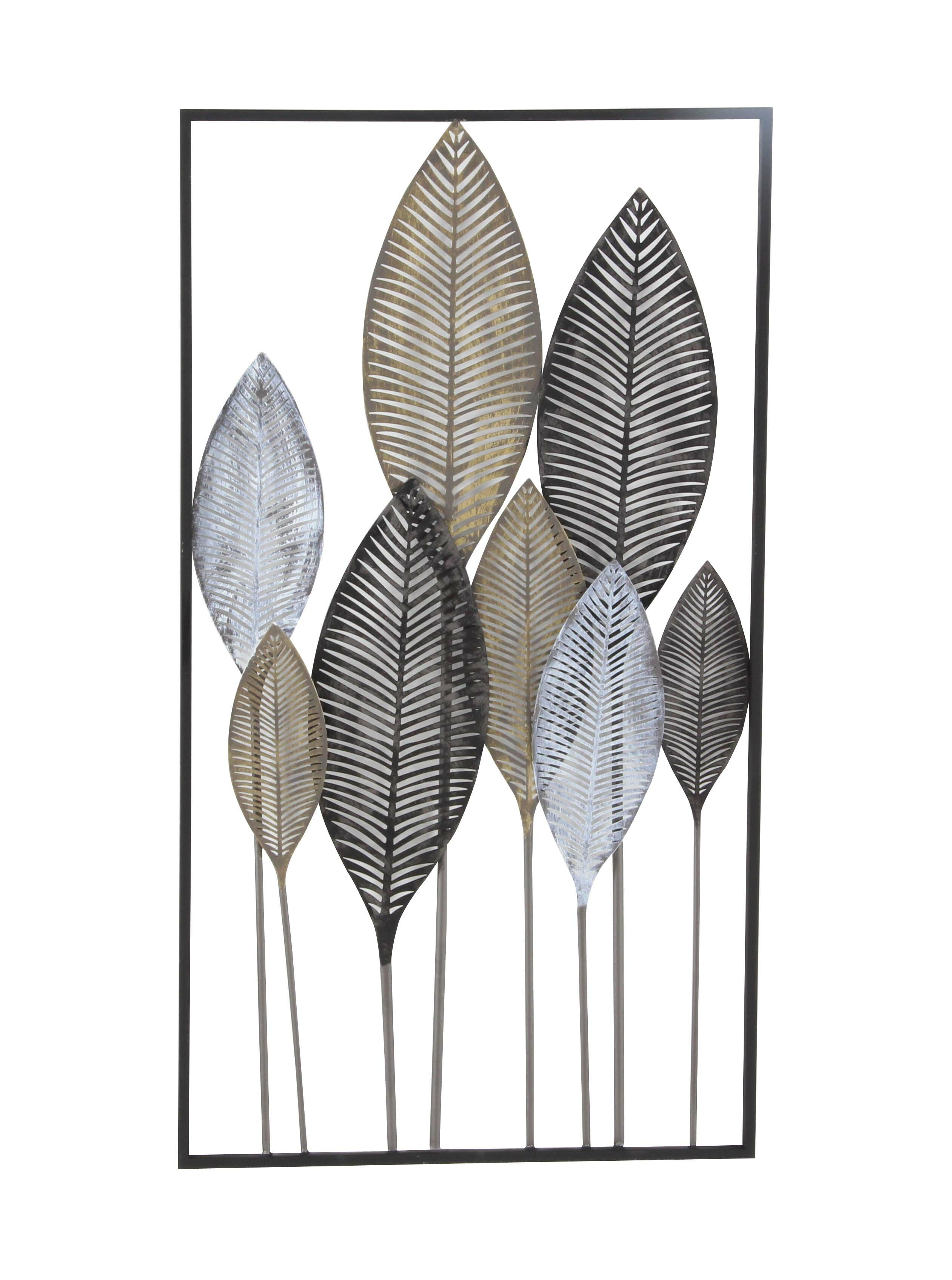 pillows metal cor allmodern decor pdp wall leaf d reviews