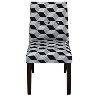 Tegan Marble Cube Button Tapered Parsons Chair