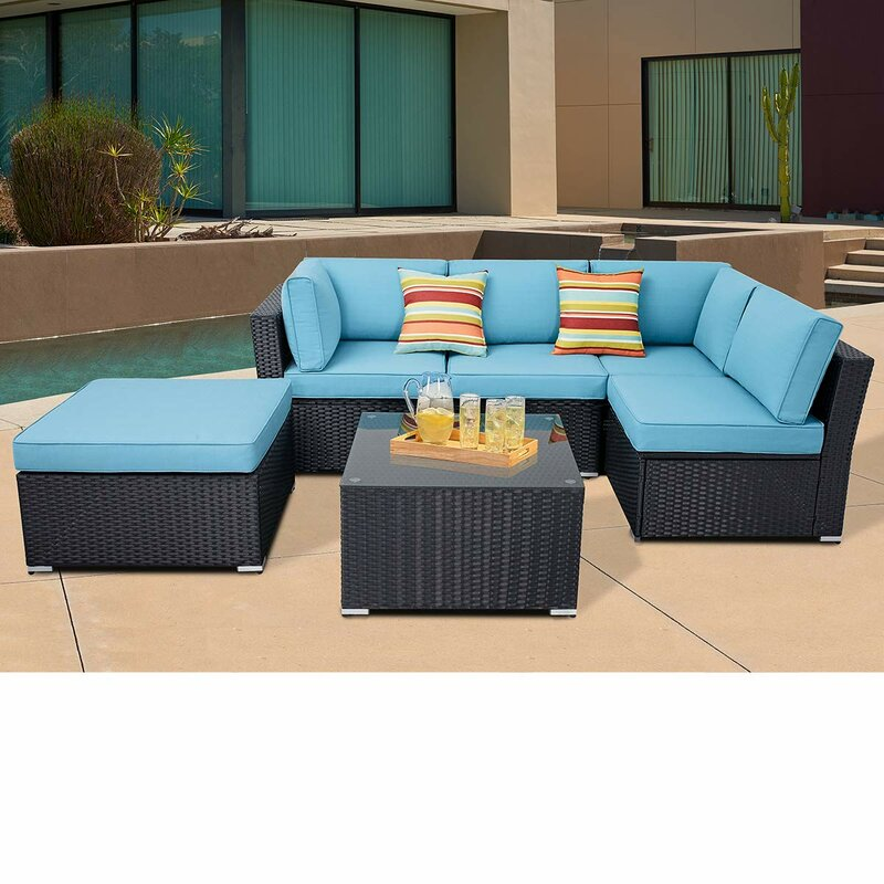 Black Wicker Patio Sectional