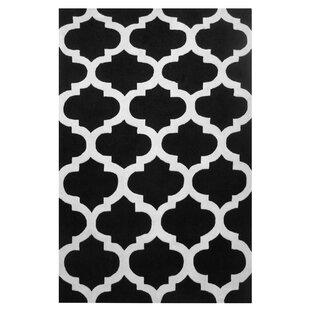 Inexpensive Capri Black/White Area Rug ByL.A. Rugs
