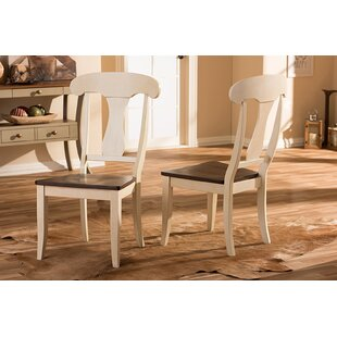Farallones Antique Solid Wood Dining Chair (Set of 2) Alcott Hill