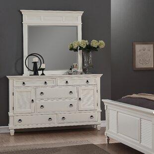 Highland Dunes Stratford 6 Drawer Combo Dresser with Mirror