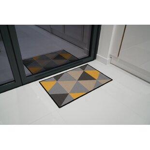 Wrought Iron Effect with Coir Mat Wild Poppy Design 75 x 45 cm Outdoor Indoor