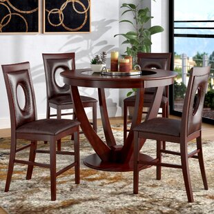 Depriest 5 Piece Counter Height Pub Table Set by Latitude Run No Copoun