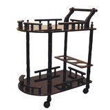 Bulmore Casters Supported 2 Tier Wine Table Kitchen Cart by Charlton Home®