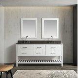 Highland Creek 72 Double Bathroom Vanity Set with Mirror by Ebern Designs
