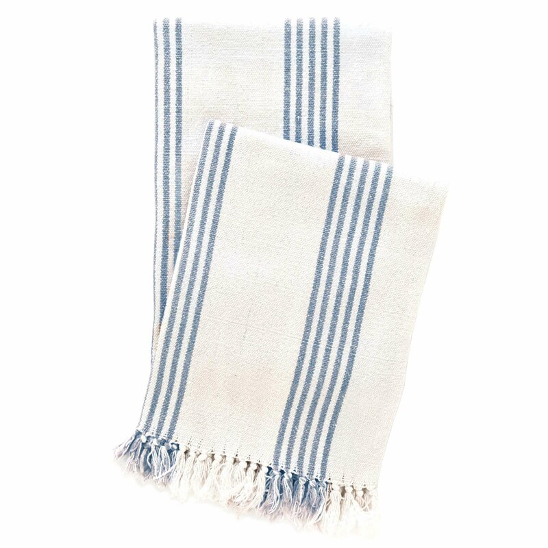 Ibiza Cotton Throw- come explore coastal cottage bedroom ideas with furniture and decor resources on Hello Lovely!