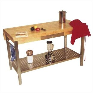 Cucina Grande Prep Table with Butcher Block Top John Boos
