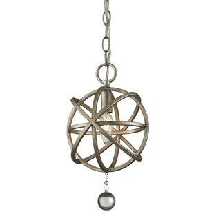 Leonora 1-Light Globe Pendant by Rosdorf Park