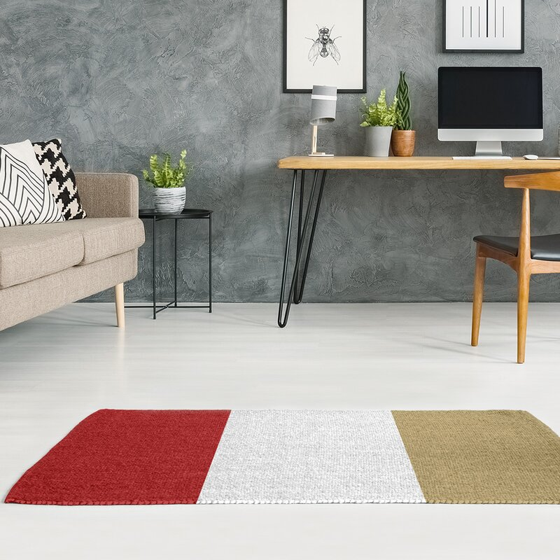 East Urban Home San Francisco Football Red White Area Rug Wayfair