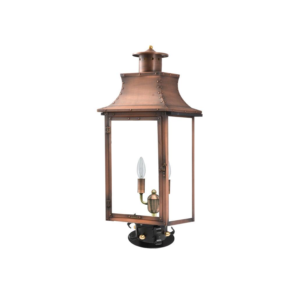 Longshore Tides Gravette Aged Copper 20 H Hardwired Lantern Head Wayfair