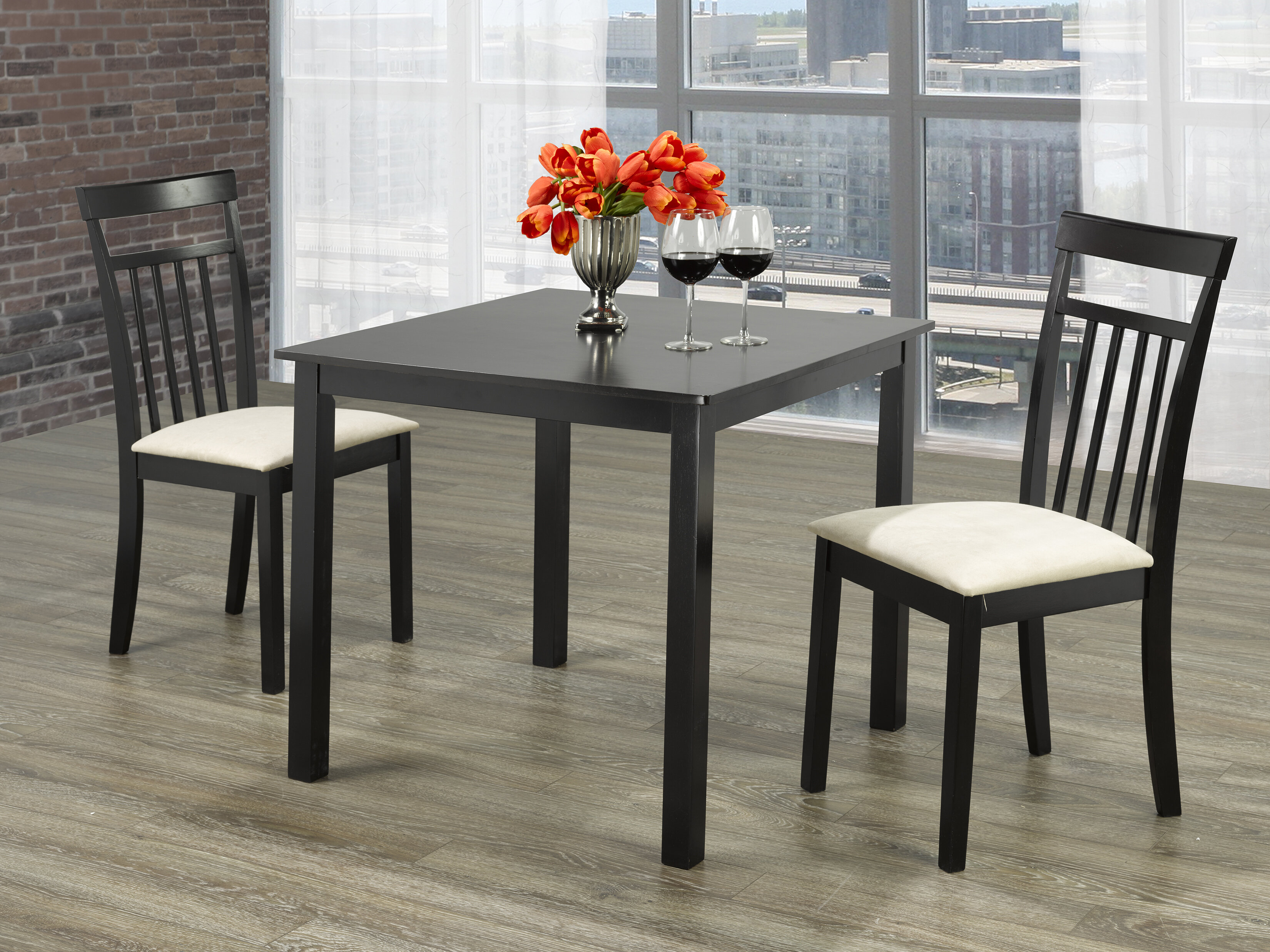 Table A Manger Carree table de salle à manger carrée en bois massif snider