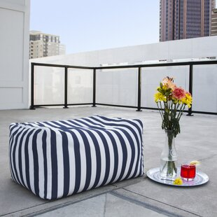 Jaxx Leon Outdoor Striped Bean Bag Ottoman