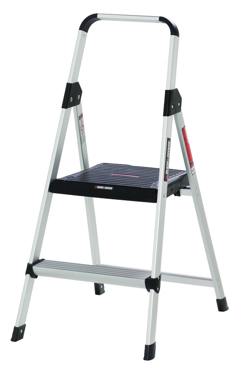 Outstanding 2 Step Aluminum Step Stool With 225 Lb Load Capacity Squirreltailoven Fun Painted Chair Ideas Images Squirreltailovenorg
