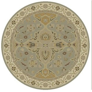 Nadir Hand-Tufted Wool Slate Gray Area Rug by World Menagerie