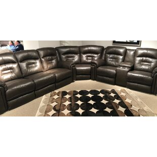 Avatar Leather Reversible Reclining Sectional